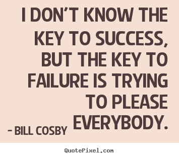 Design custom picture quotes about success - I don't know the key ...