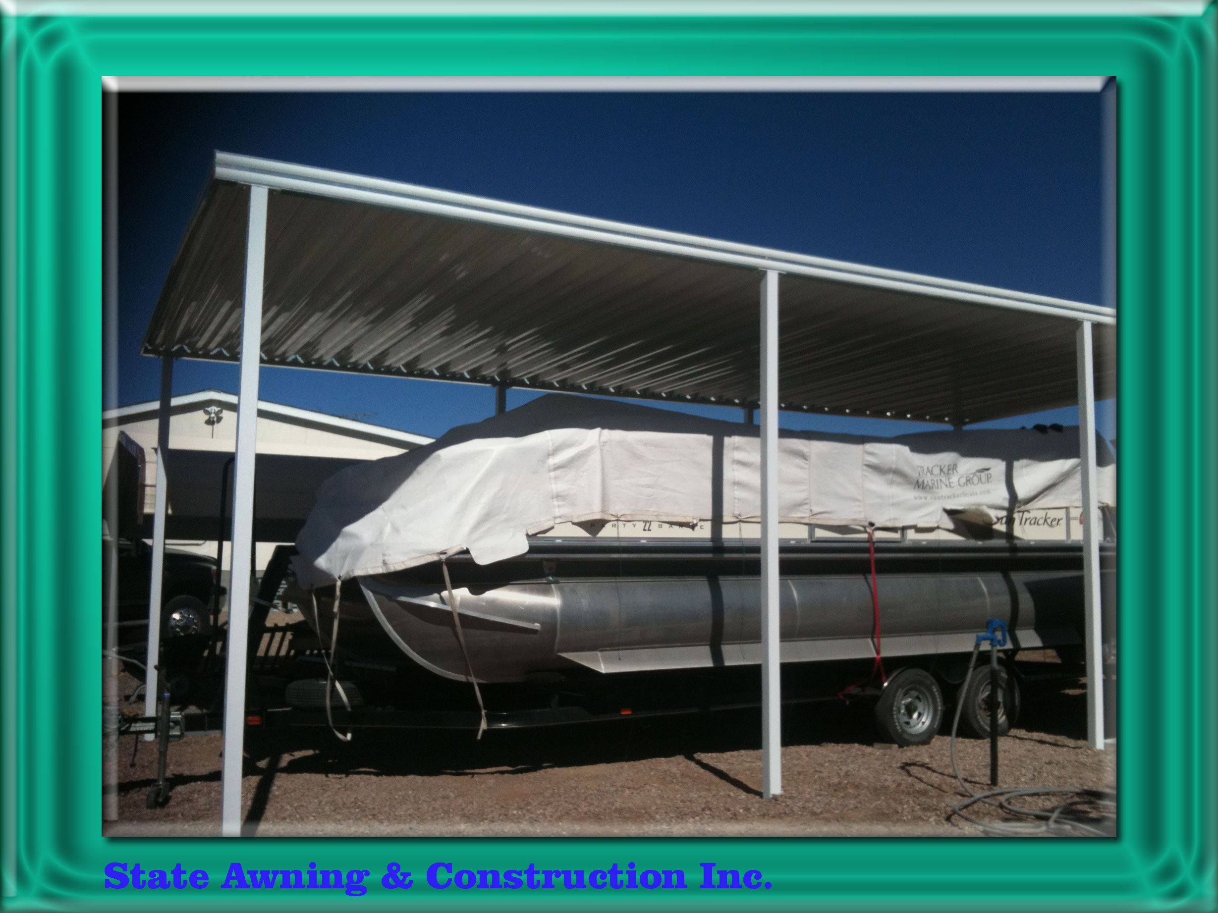 All Aluminum W Panel 14x25 Carport With Square Steel Tubing Post Installed In Elephant Butte Nm Used For Par Carport Christmas Village Houses Carport Canopy