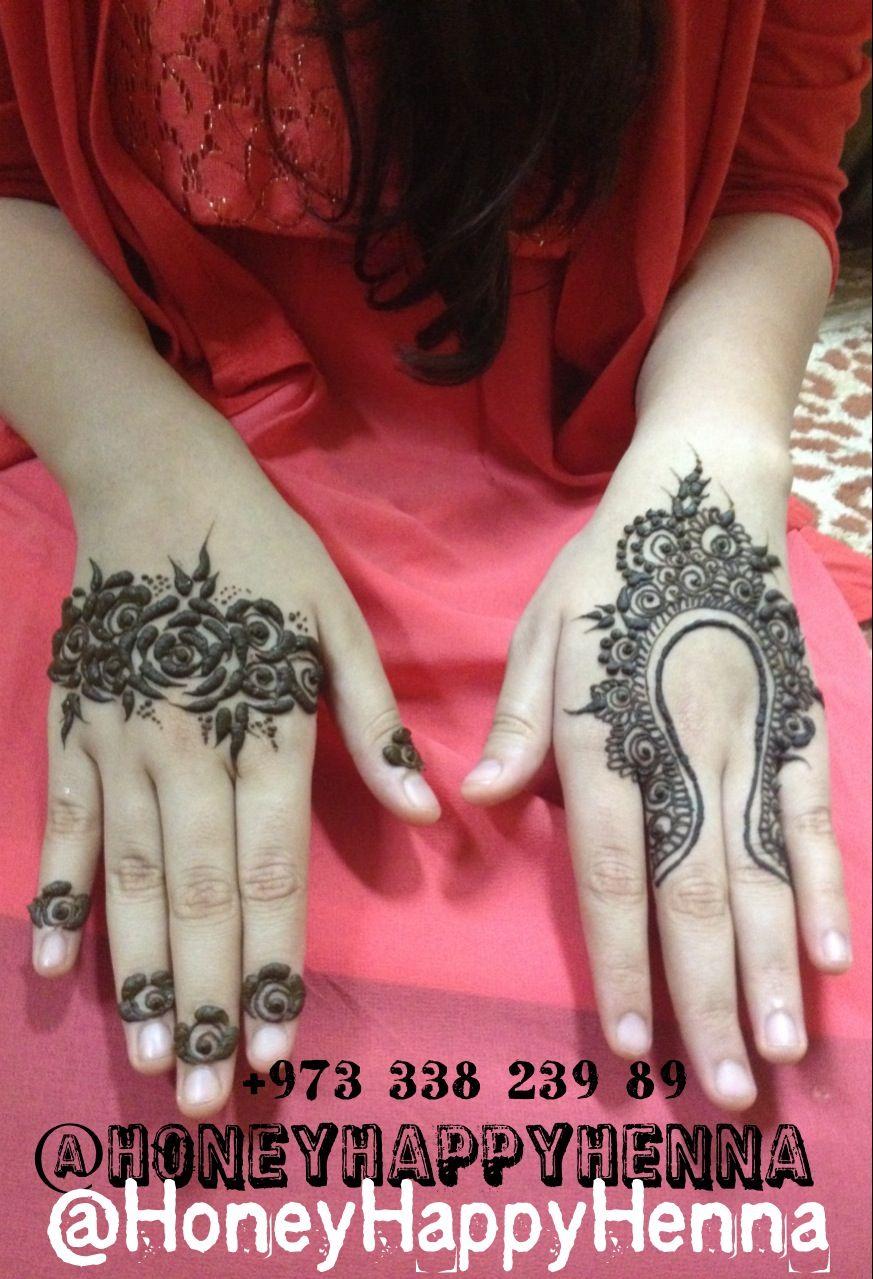 Henna Design — Body Art — Temporary Tattoo.