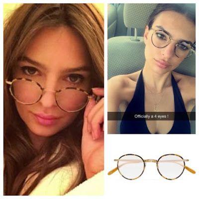 a4fa96ff8ea Emily Ratajkowski Emrata Instagram Garrett Leight Wilson Round Frame Glasses