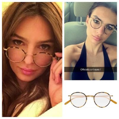 8cef288372 Emily Ratajkowski Emrata Instagram Garrett Leight Wilson Round Frame Glasses