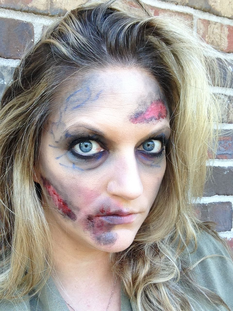 halloween zombie makeup easy diy with makeup that you likely already