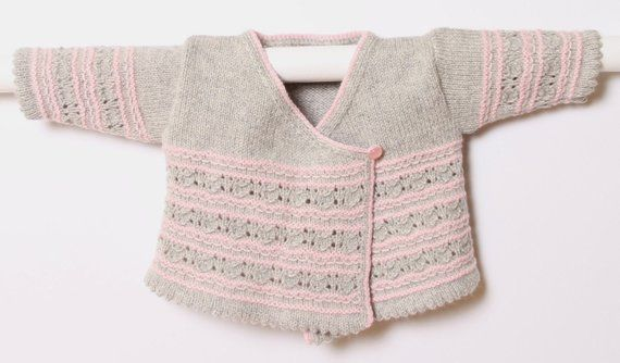 74e882fa2 Baby Wrap Cardigan   Instructions in English   PDF instant download   4  Sizes   Newborn