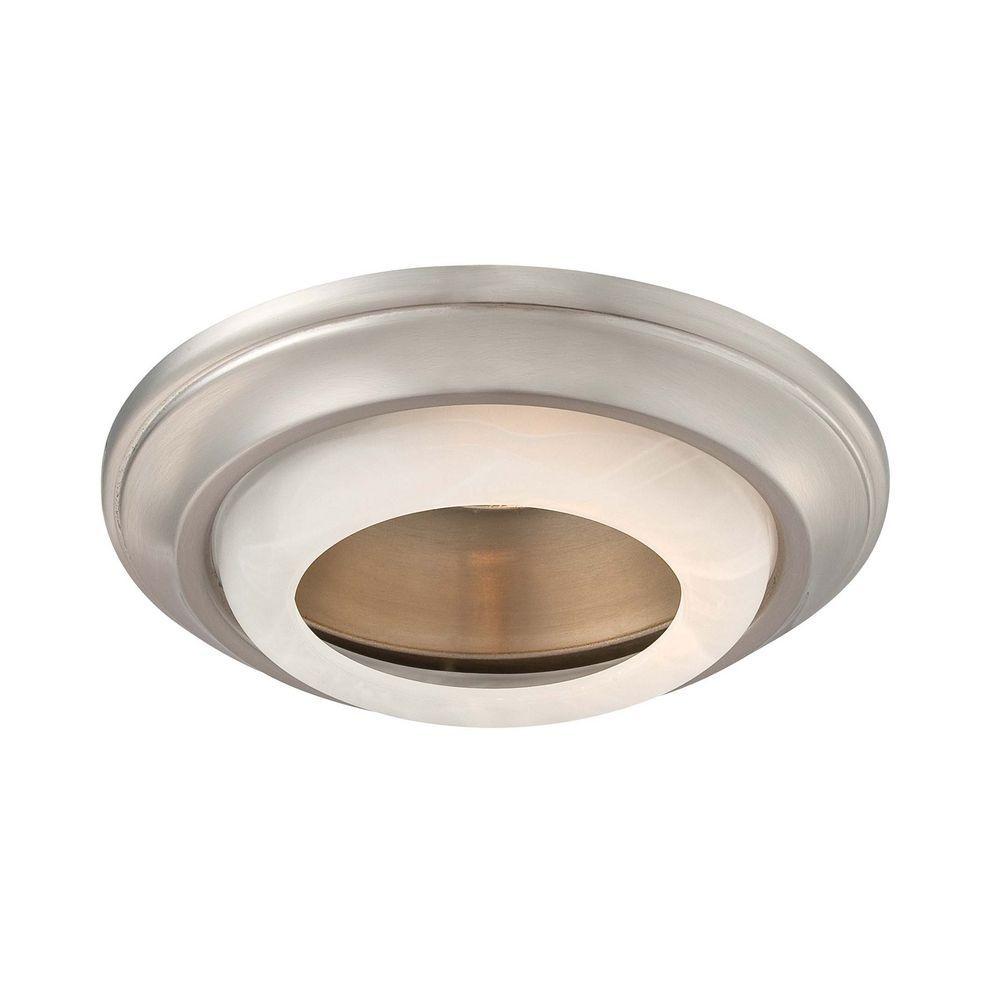 Minka Lighting 6 Inch Brushed Nickel Recessed Light Trim