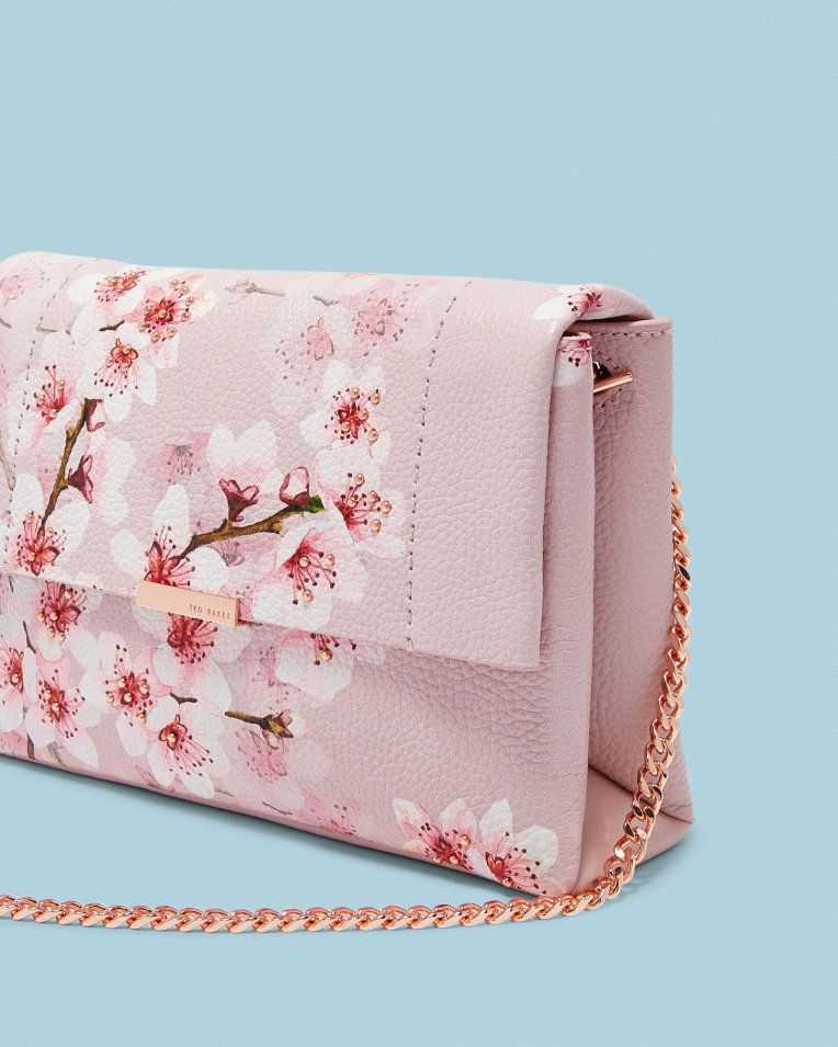 f508c9b1ae6 Soft Blossom leather cross body bag - Light Pink | Bags | Ted Baker ...