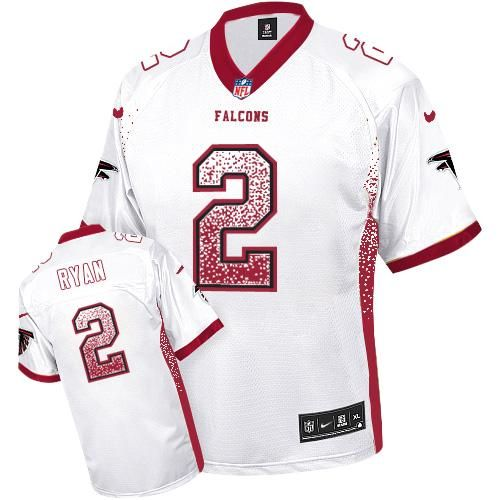 e6b610377fc Nike Falcons  2 Matt Ryan White Men s Stitched NFL Elite Drift Fashion  Jersey