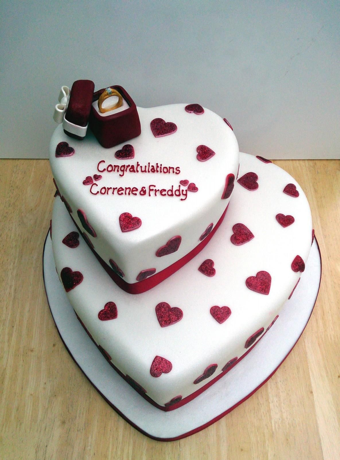 tier heart shape engagement cake with ring this cake is found in & engagement ring cake - Google Search | Lockieu0027s Engagement Cake ... Aboutintivar.Com