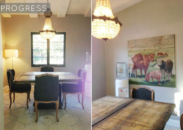 French Industrial Dining Nook + Shop The Look - Emily Henderson #frenchindustrial