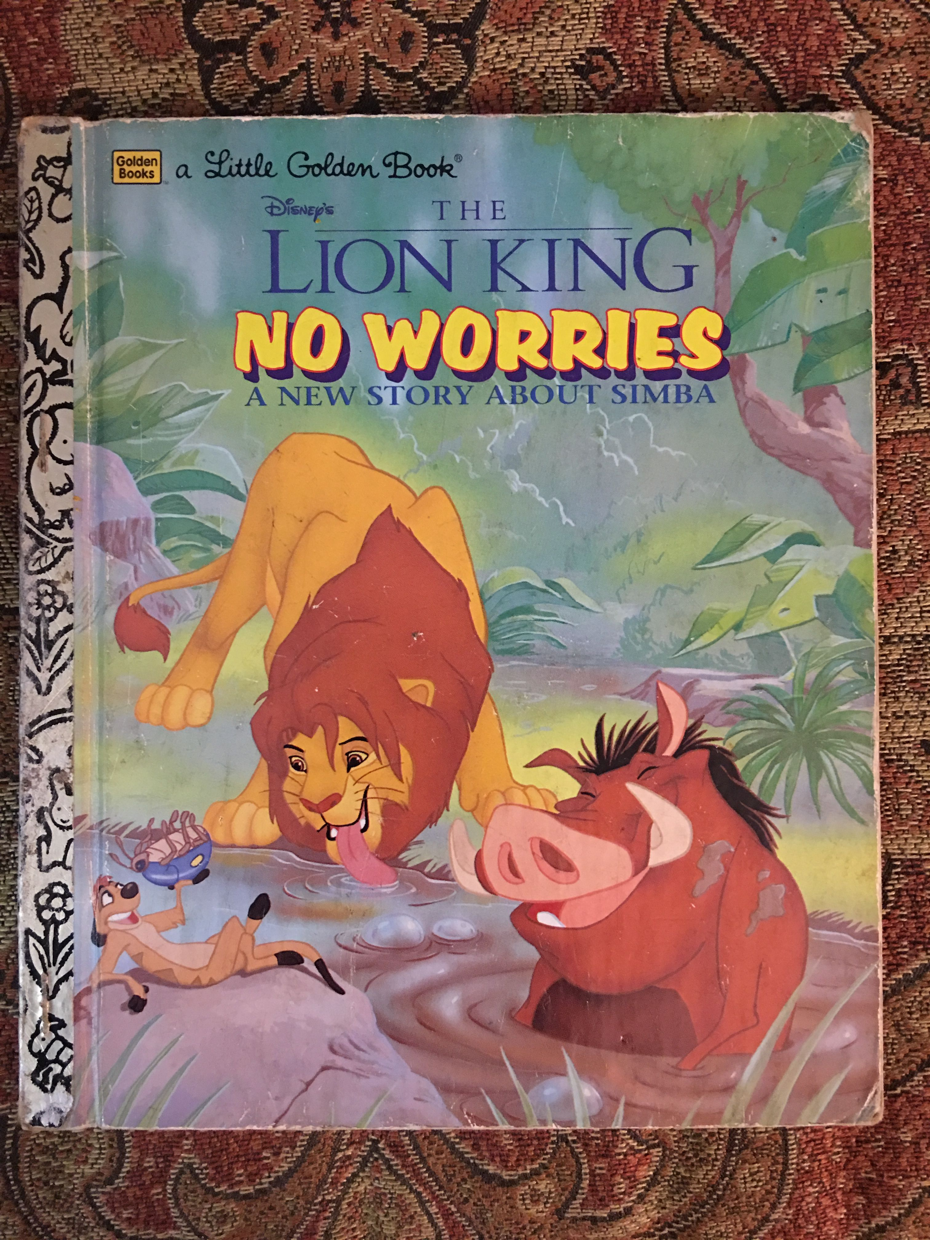 Disney's The Lion King No Worries A New Story About Simba 1997