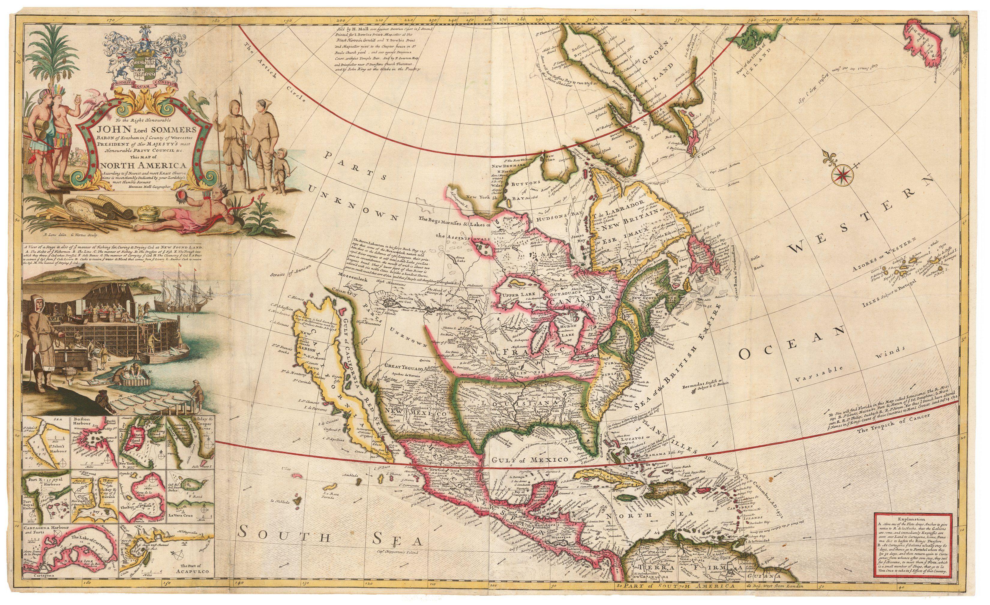 1720 …This Map of North America According to Ye Newest and ... on america shopping, america atlas, america continent, america national anthem, america attractions, america google earth, america globe, america outline, america hemisphere, america weather, america people, america logo, america vector, america water bottle, america text, america acronym, america area, america art, america activities, america city,