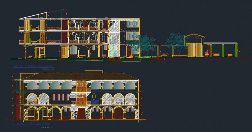 Autocad File Of Two Bedroom G 1 House Plan Download The Autocad Drawing File Cadbull Story House How To Plan Site Plan