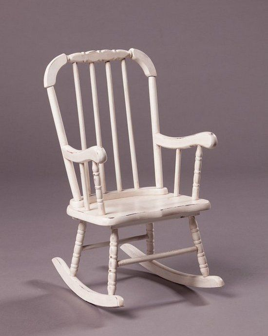 Beautiful White Vintage Rocking Chair
