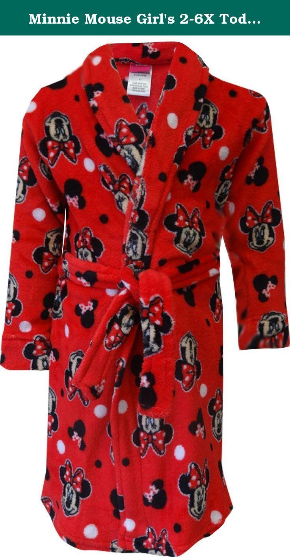 Minnie Mouse Dressing GownGirls Disney Bath RobeKids Minnie Robe