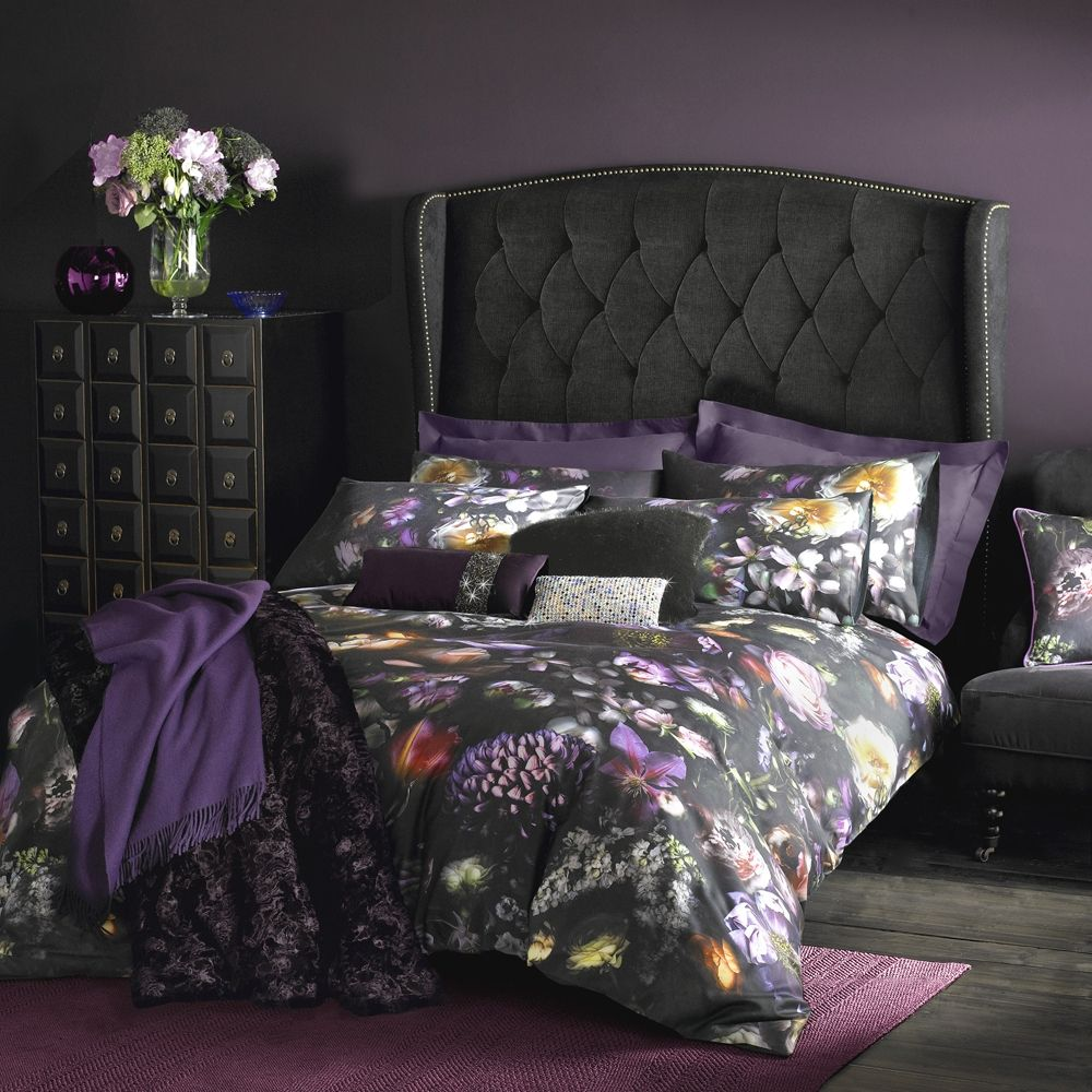 GEOMETRIC HARLEQUIN PURPLE BERRY DUVET SET IN SINGLE DOUBLE KING SIZE CURTAINS