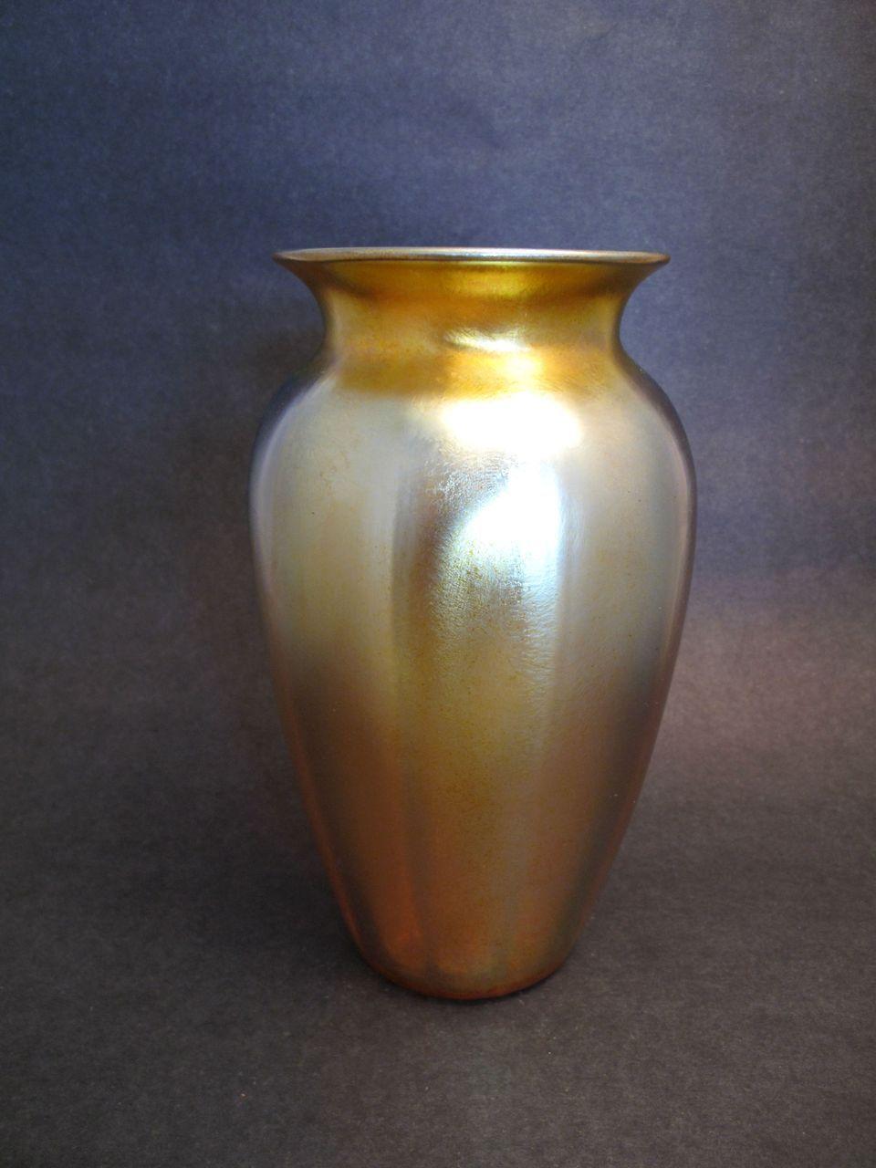 Gold Iridescent Durand Vase from garygermer on Ruby Lane