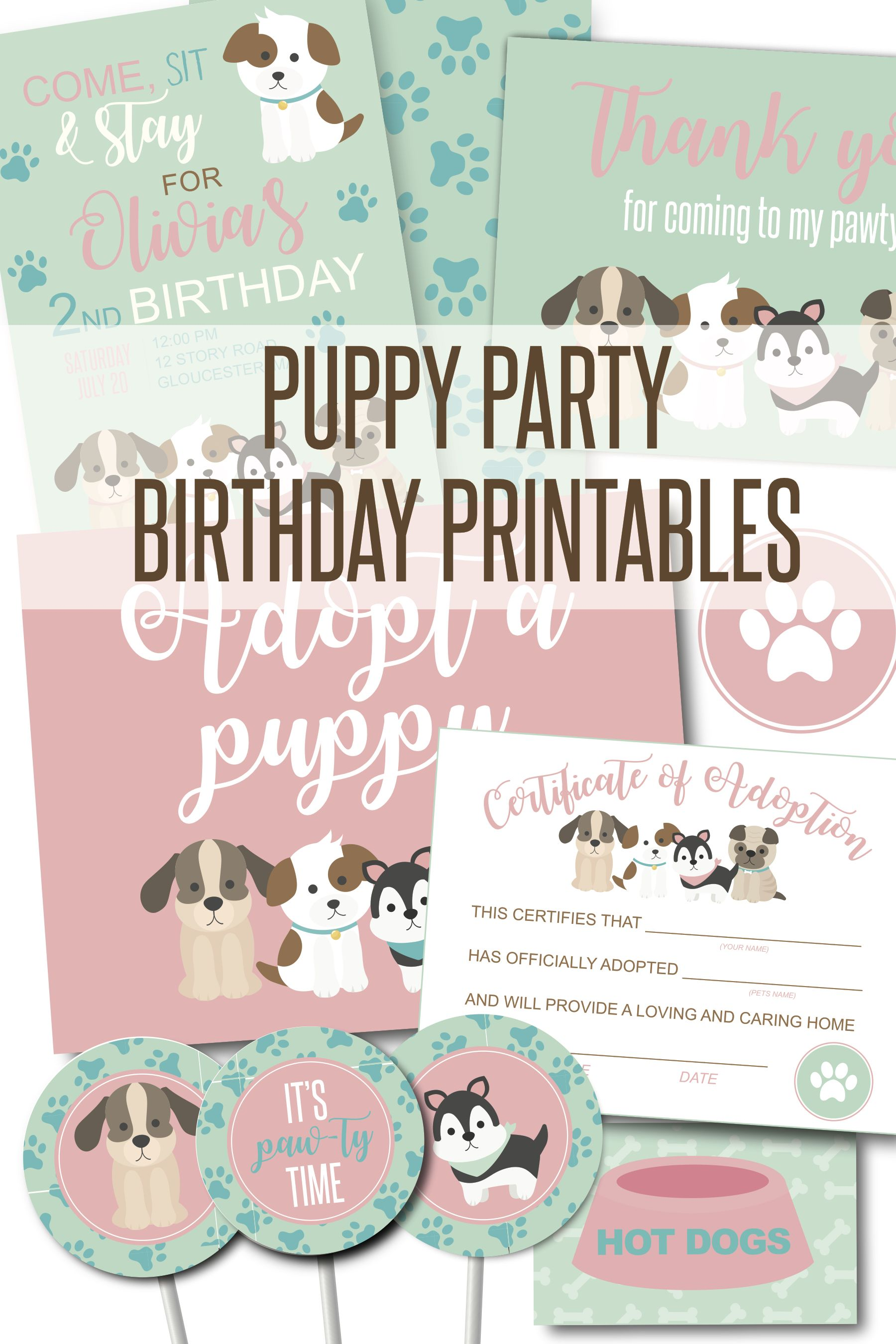 Pin On Puppy Birthday Party