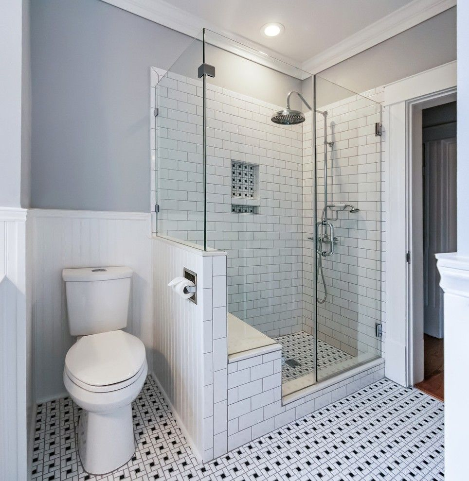 Shower Toilet Combo Bathroom Traditional With Small