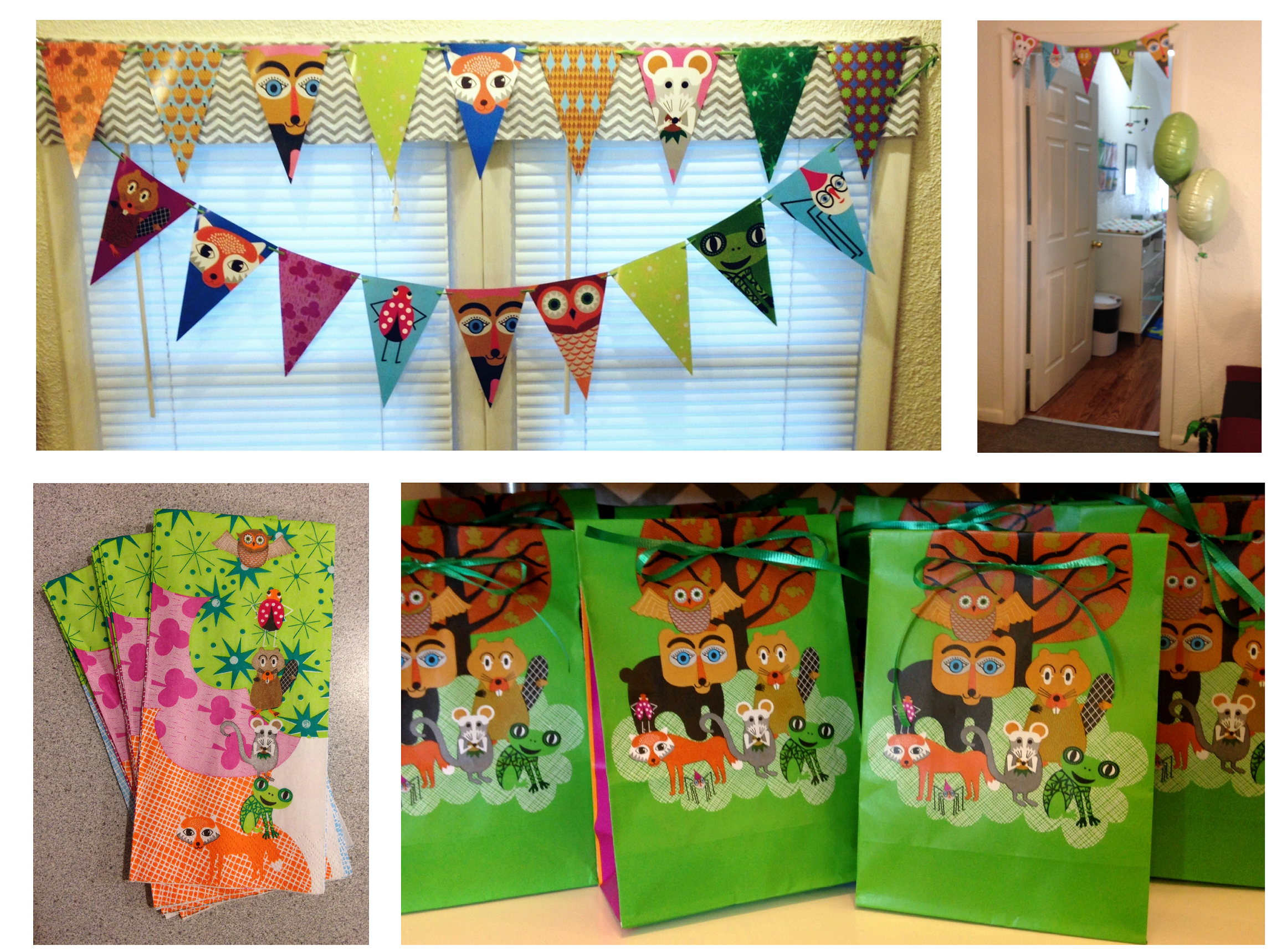 ikea overlagsen party decorations paper napkins and treat bags perfect for our woodland