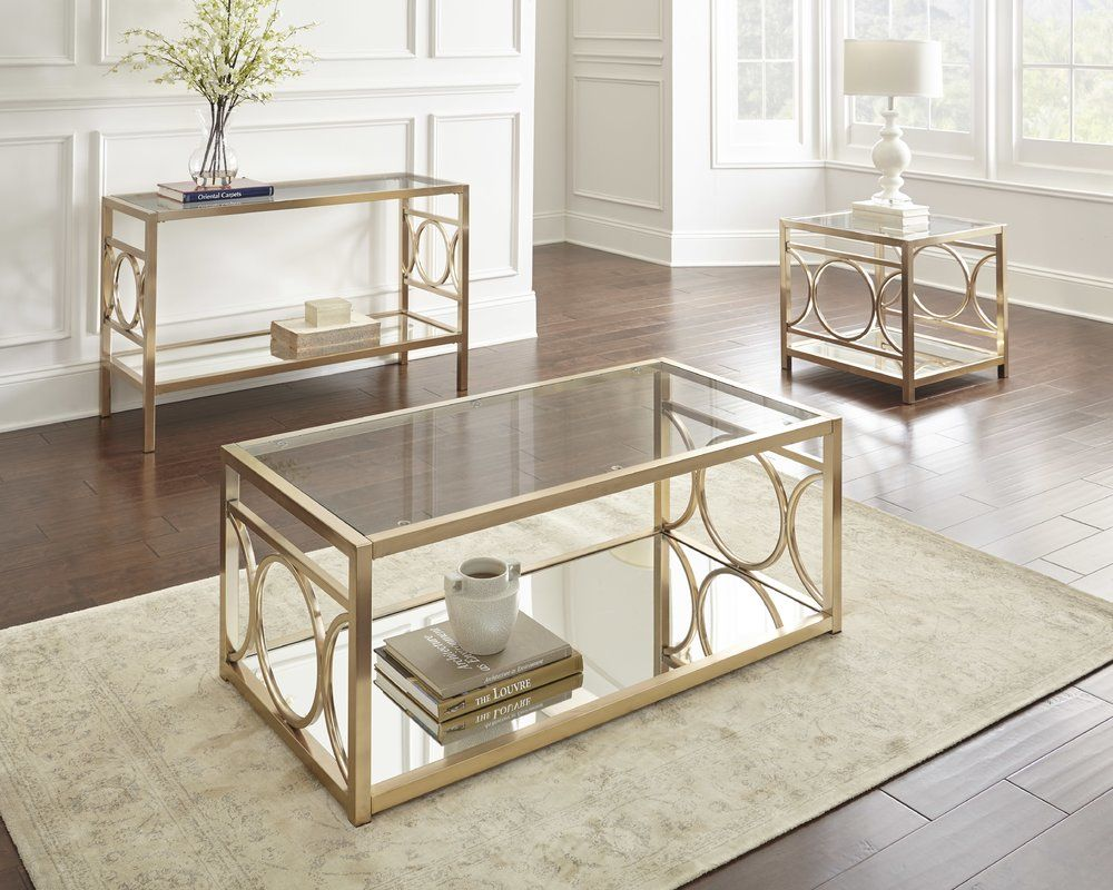 Astor Console Table 3 Piece Coffee Table Set Coffee Table