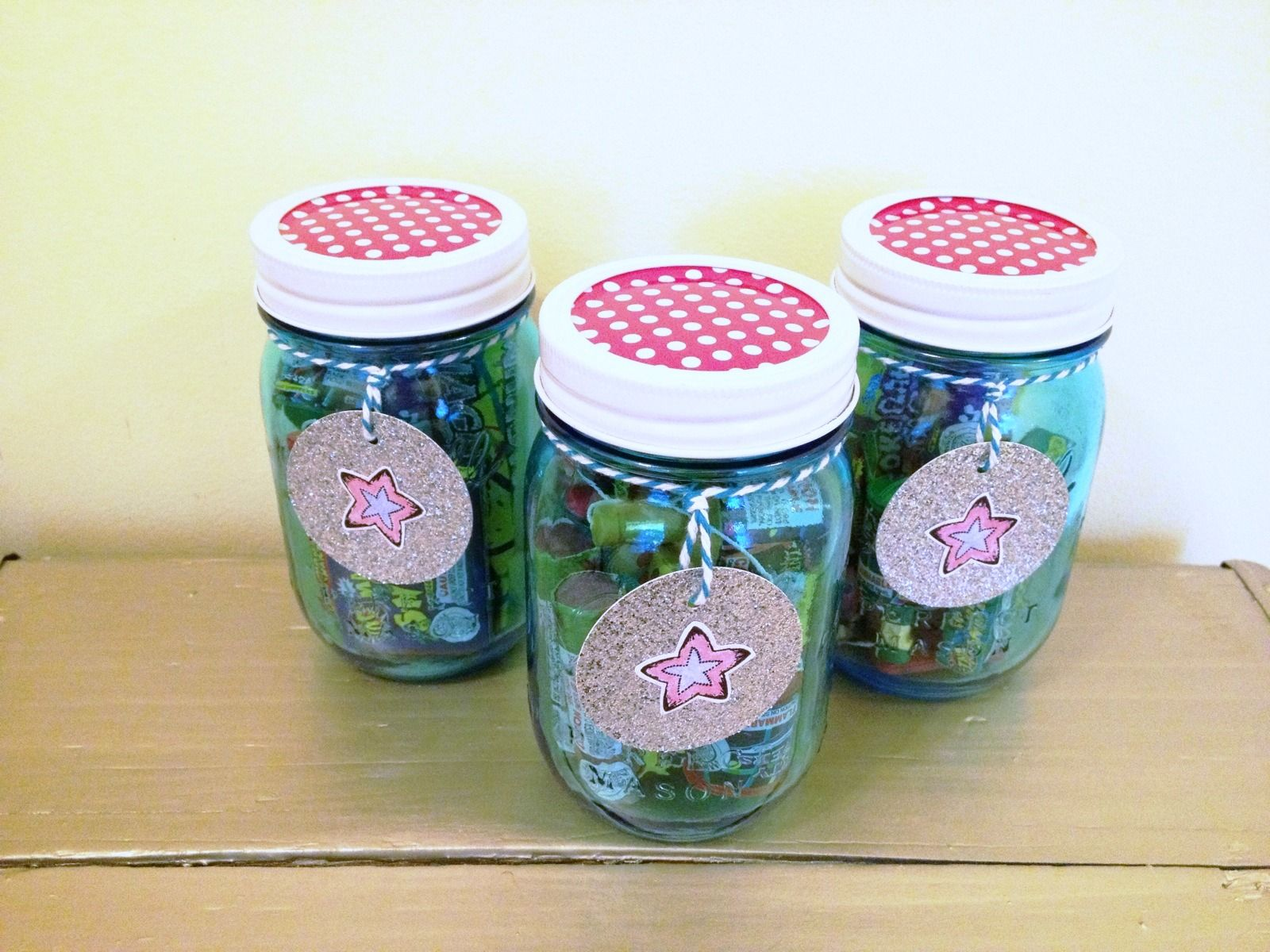 Patriotic Mason Jar Firework Favors - Mrs Greene  Crafts,