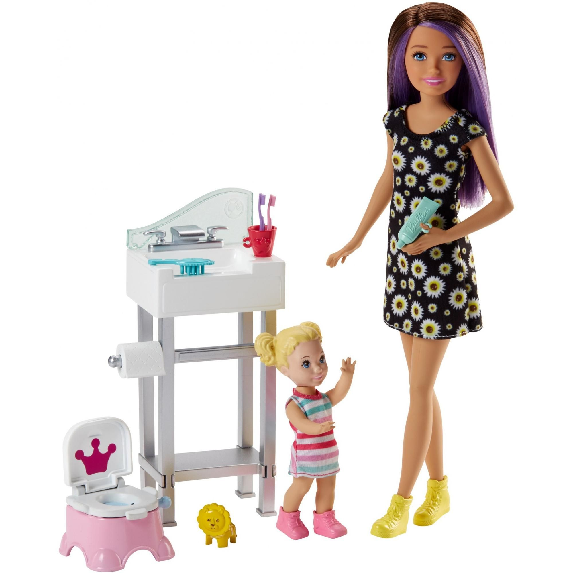 Barbie Skipper Babysitters Inc. Potty Training Playset and