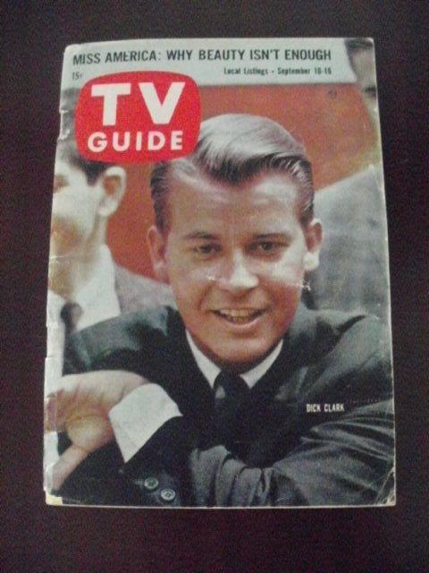 TV Guide 389~Sept 10, 1960~Dick Clark~Tom Poston~Carolina-Tennesse edition~ - Magazine Back Issues