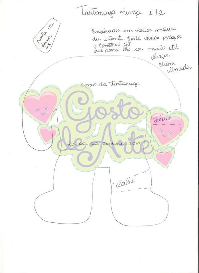 Tortuga ninja!! | Moldes para fieltro | Pinterest | Fieltro, Moldes ...