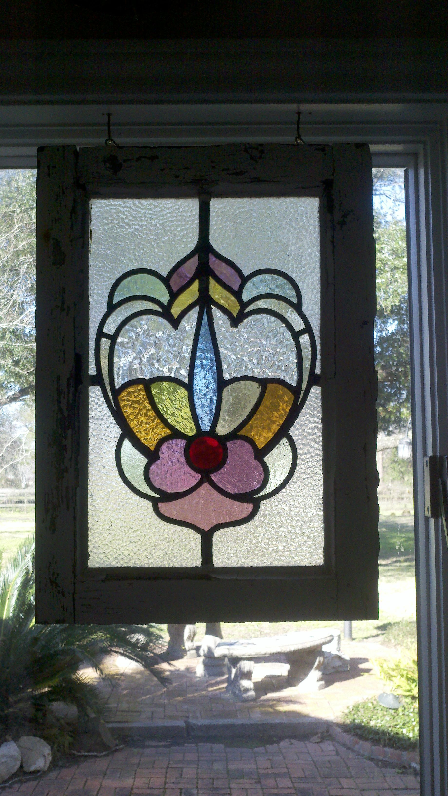 Pair Of Stained Glass Panels Years