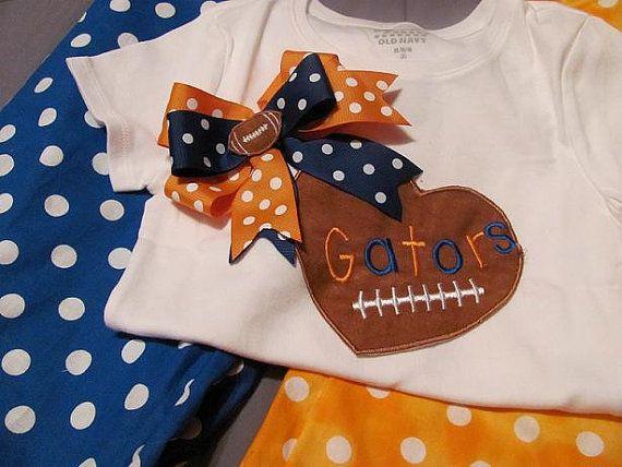 Football Applique Gator Shirt by KutieB on Etsy, $18.99