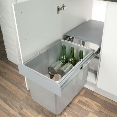 kitchen cabinet recycle bins ekko pull out waste bin for recycling kitchen waste 1 x 19385