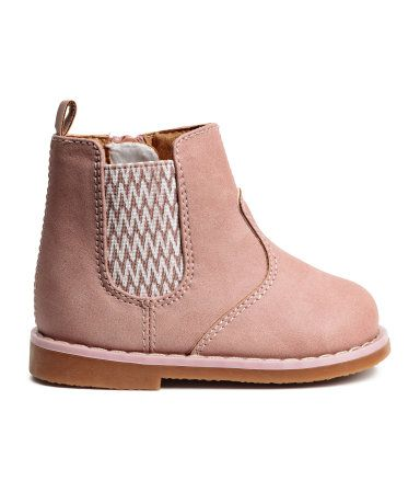 Boots Mit Warmem Futter Altrosa Kinder H M De Toddler Ankle Boots Kids Shoes Winter Boots Outfit Ankle