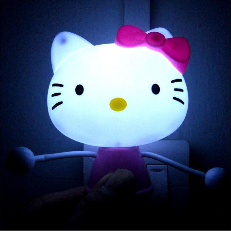 Hello Kitty LED Light Sensor Control Night Light Lamp Novelty - Hello kitty lamps for bedroom