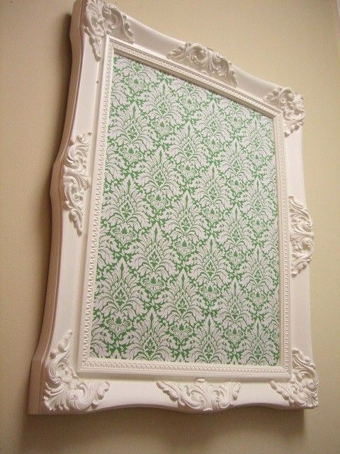 CORK BOARD HOLLYWOOD Regency Cream with Damask front Baroque French ...