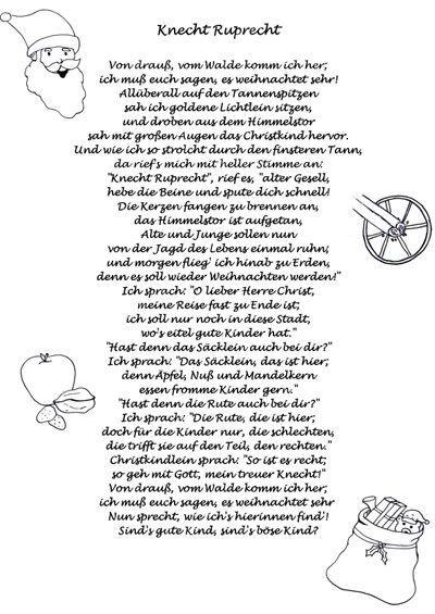 Knecht Ruprecht Gedicht, Weihnachtsgedicht