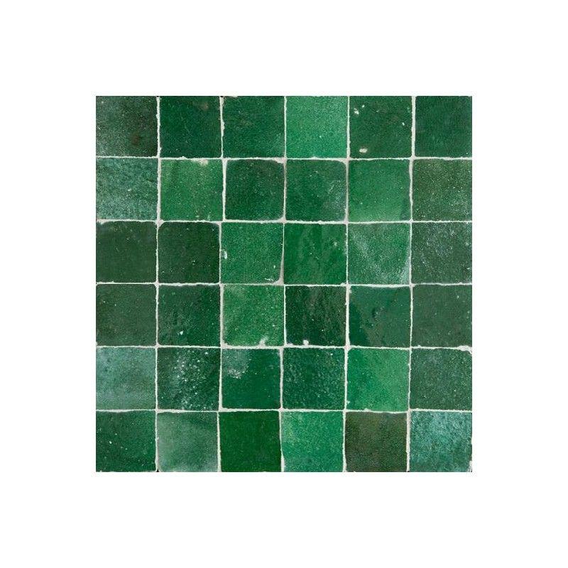 Green Moroccan Ceramic Tile Emerald Clay Tiles Zillij