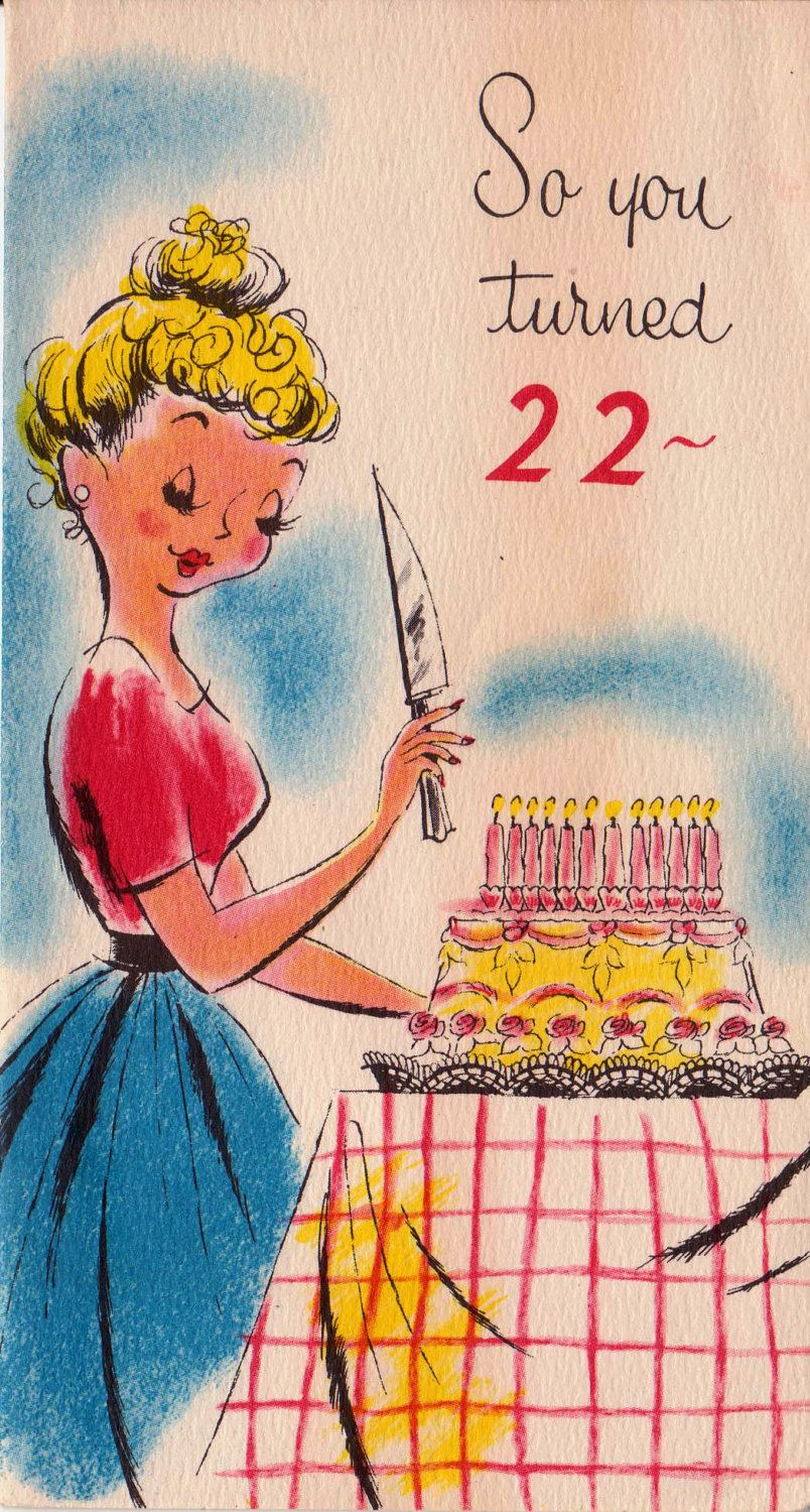 So You Turned 22 Birthday Card