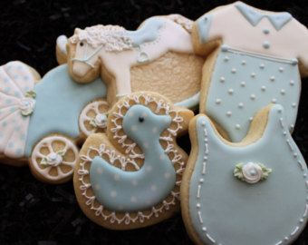 Baby shower cookie favors rocking horse von 4theloveofcookies
