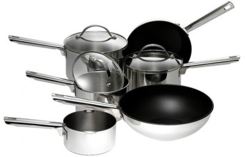 Meyer Professional Non Stick 6 Piece Stainless Steel Cookware Set