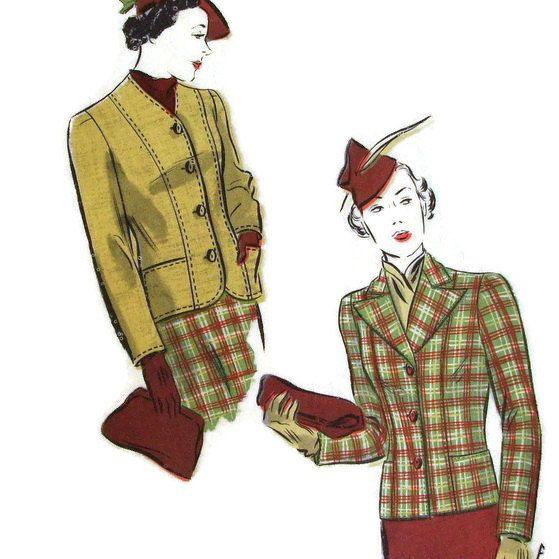 Vintage Vogue Sewing Pattern 1930\'s 1940\'s by MerrilyVerilyVintage ...