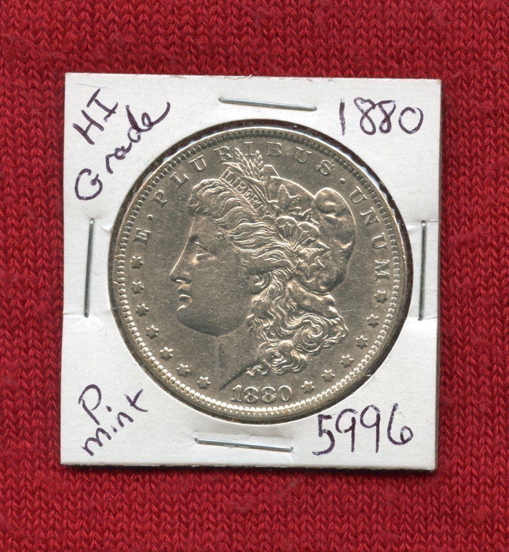 1880 Morgan Silver Dollar Coin Silver Dollar Silver Dollar Coin Morgan Silver Dollar