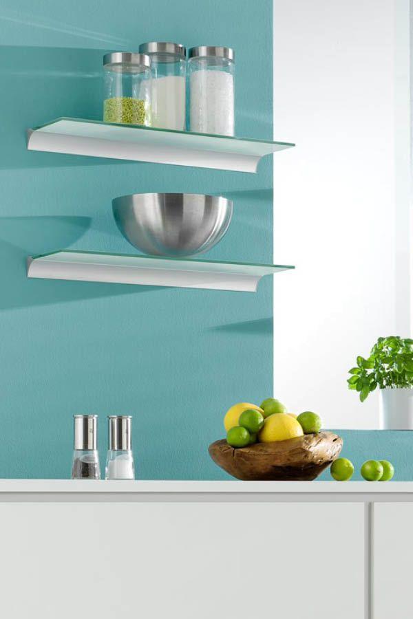 Schickes Wandregal aus Glas für die Küche | Küchen-Regale | Pinterest