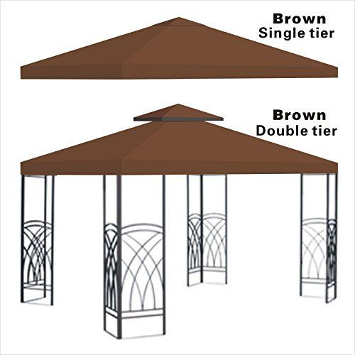 Replacement 10x10gazebo Canopy Top Patio Pavilion Cover Sunshade