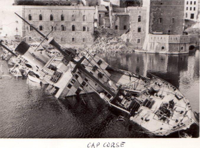 Marseille sous l 39 occupation les allemands coulent le cap - Bastia marseille bateau ...