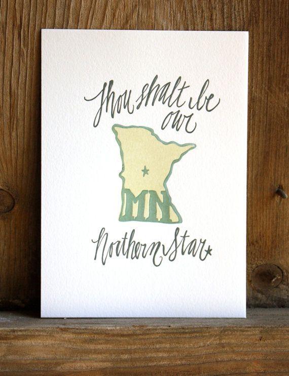 Hey I Found This Really Awesome Etsy Listing At Https Www Etsy Com Listing 82088437 Minnesota Letterpress P Letterpress Printing Hand Illustration Minnesota