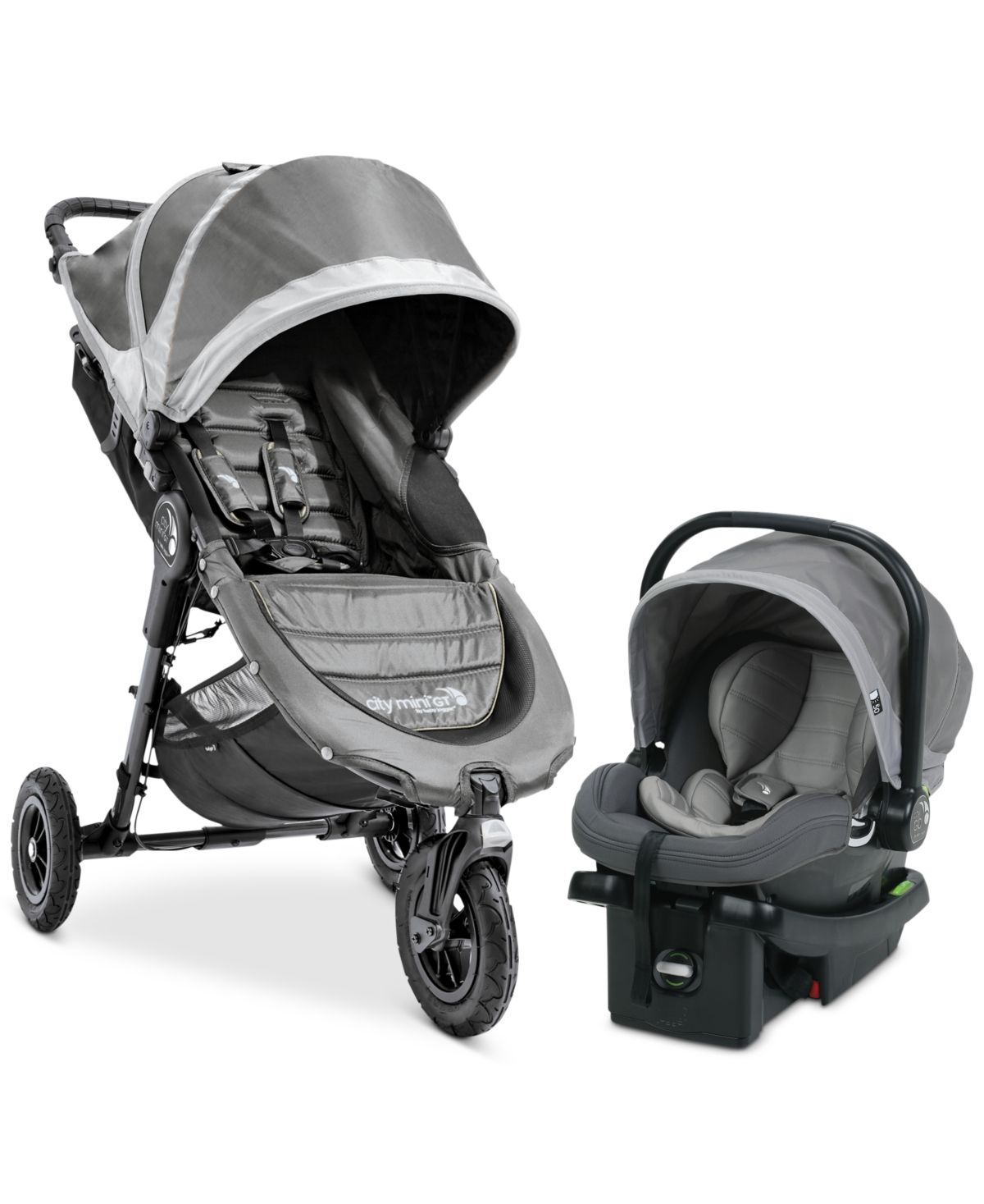 Baby Jogger City Mini Gt Travel System Steel Gray City