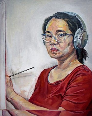 oil painting by Qing Song, figure painting by Qing Song, portrait painting by Qing Song,