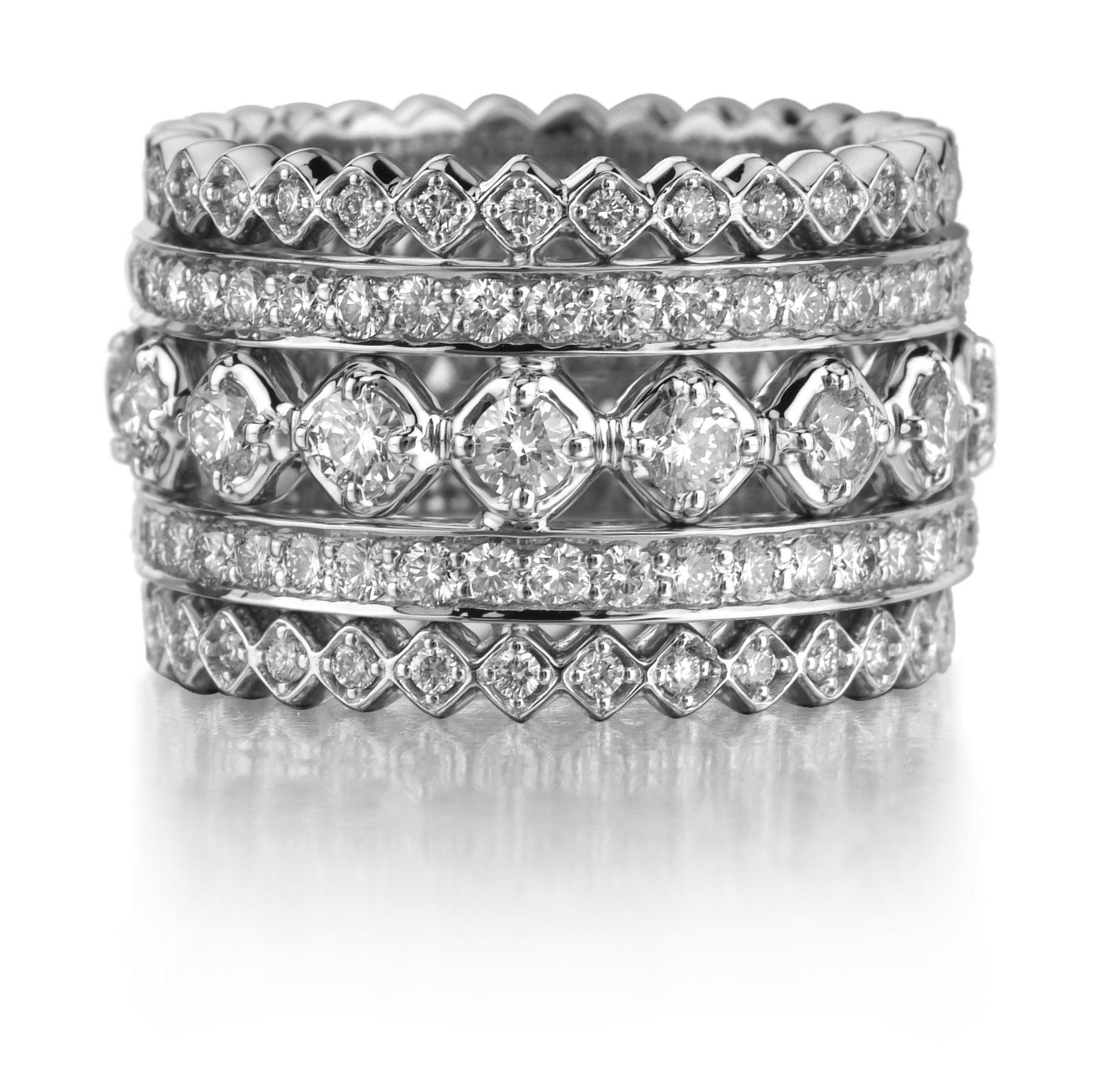 Imagine This With Channel Set Baguettes Stackable Rings