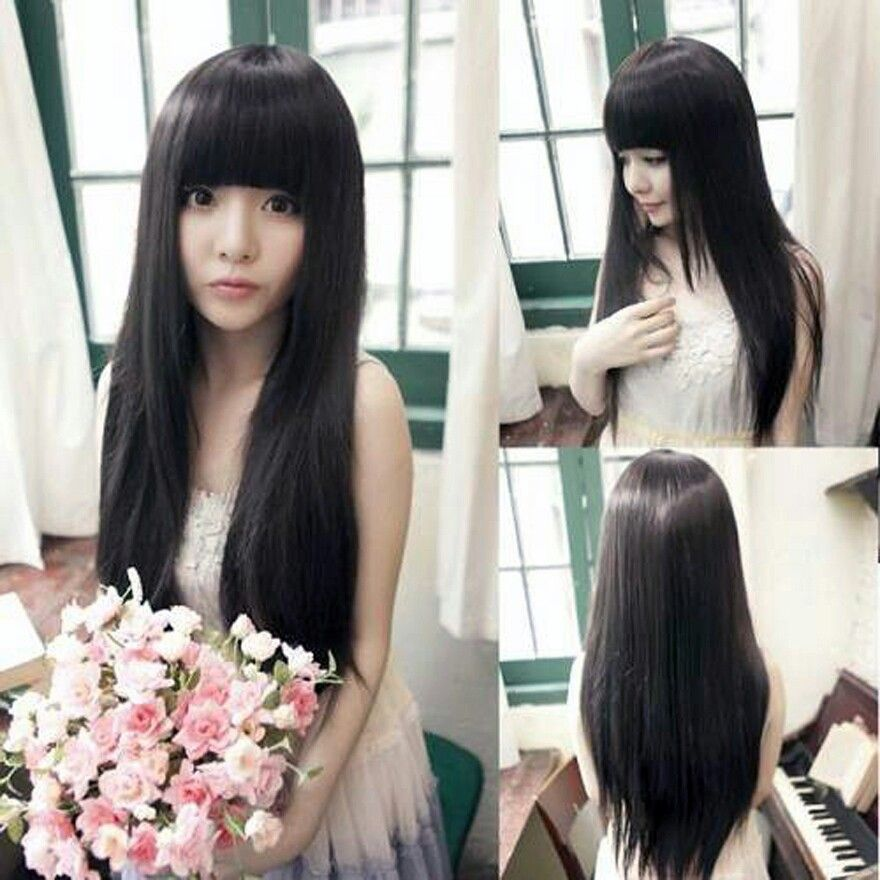 Doll Like Hairstyle Long Hair Styles Long Straight Hair Straight Hairstyles