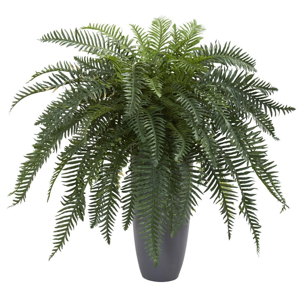 Indoor river fern artificial plant in cylinder planter green products