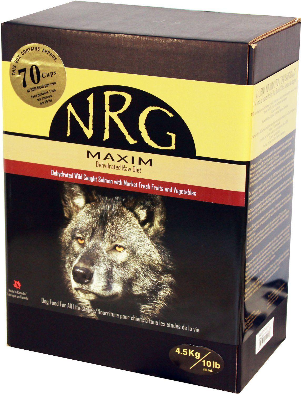 Nrg Maxim Salmon Veggies Dehydrated Raw Dog Food 10 Lb Box Dehydrated Dog Food Dog Food Recipes Dog Food Storage